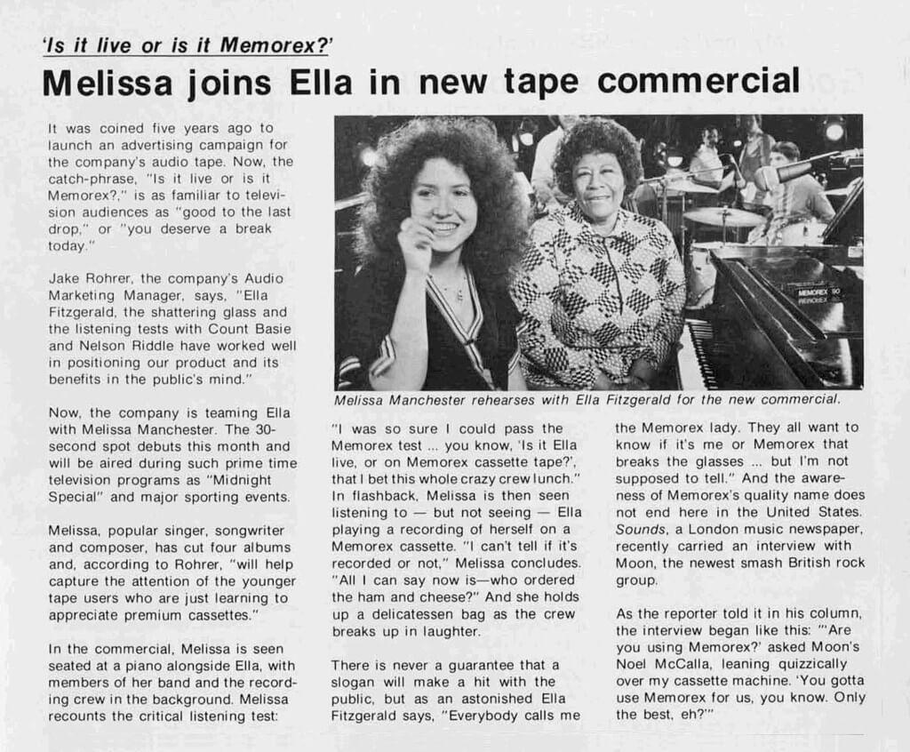 1977 Memorex Commercial